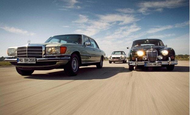 Jaguar Mk II, Maserati Quattroporte, Mercedes 450 SEL 6.9