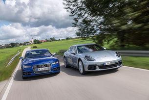Audi S7 Sportback и Porsche Panamera 4S