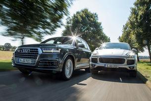 Audi SQ7 срещу Porsche Cayenne Diesel S