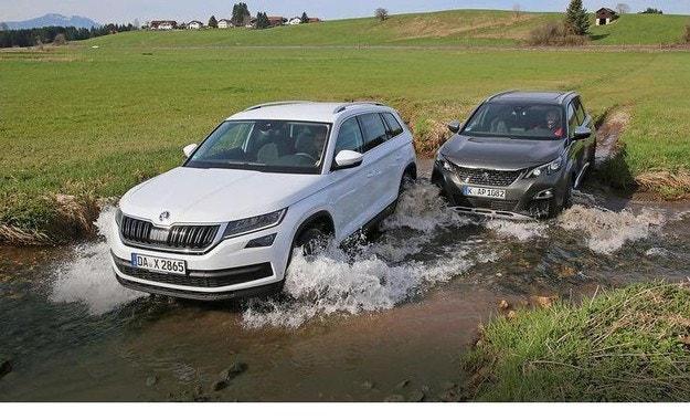 Peugeot 5008 и Skoda Kodiaq: големи SUV за семейства