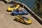 Ferrari 488 GTB Spider, Lamborghini Hurracan Spider и McLaren 675LT Spider