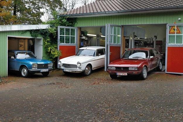 Три купета на Peugeot от различни поколения: Haute Couture