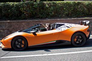 Lamborghini тества най- бързия роудстър Huracan