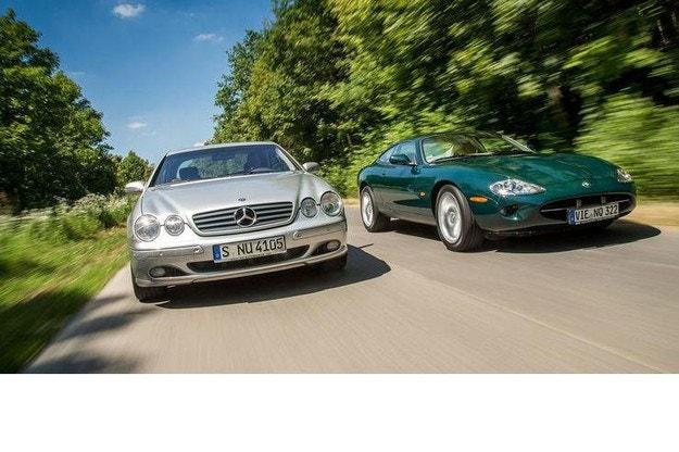 Jaguar XK8 и Mercedes CL 500