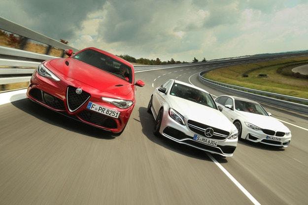 Alfa Romeo Giulia QV, BMW M3, Mercedes-AMG C 63