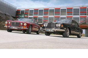 Jaguar XJ 12 и Rolls-Royce Silver Shadow: Империята е жива!