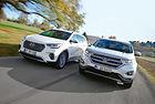 Ford Edge 2.0 TDCI срещу Hyundai Grand Santa Fe 2.2 CRDI