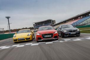 Audi TT RS Coupe, BMW M2, Porsche 718 Cayman S
