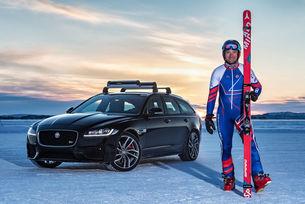 Необичаен световен рекорд за Jaguar и скиора Греъм Бел