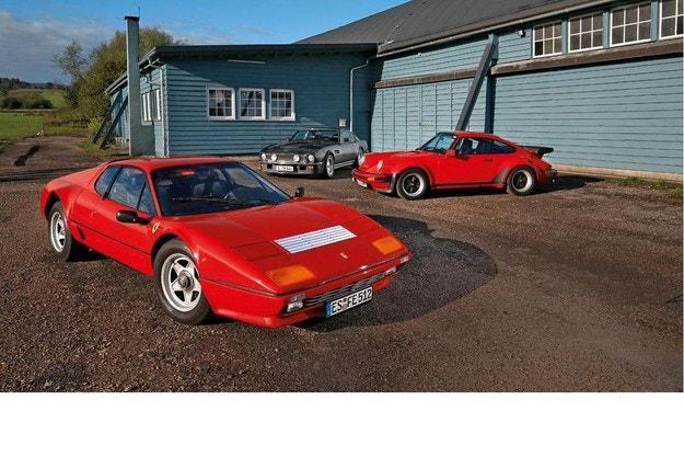 Aston Martin V8 Vantage, Ferrari 512 BBi и Porsche Turbo 3.3