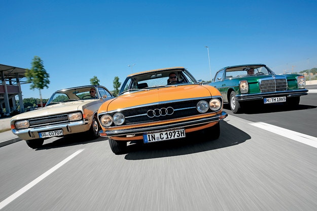 Audi 100 Coupе S, Mercedes-Benz 250 CE, Opel Commodore 2500 S Coupе