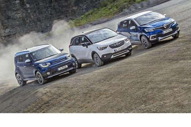 Kia Soul срещу Opel Crossland X и Renault Captur