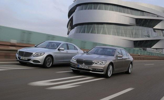 BMW 740Le срещу Mercedes S 500 e