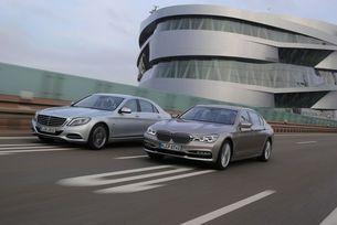BMW 740Le срещу Mercedes S500e