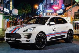 Porsche Macan в класически състезателни ливреи