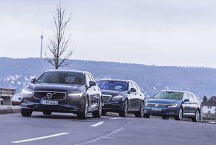 Mercedes E-класа T-модел, Volvo V90, VW Passat Variant