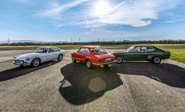 Alfa Romeo 2000 GTV, Ford Capri 2600 GT, MGB GT: 1971