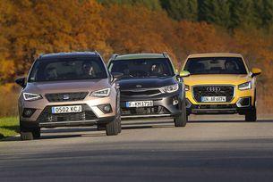 Audi Q2, Kia Stonic и Seat Arona: Толкова малки, а вече SUV