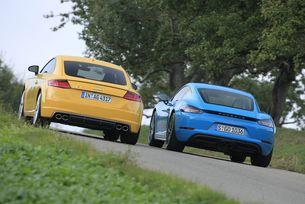 Audi TTS срещу Porsche 718 Cayman