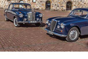 Lancia Aurelia B20 GT и Mercedes 220 S Coupе:Синя кръв
