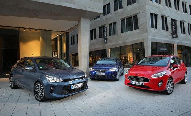 Ford Fiesta, Kia Rio, Seat ibiza: Трима градски герои