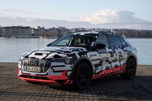 Кросоувърът Audi E-Tron Quattro мери сили с Tesla