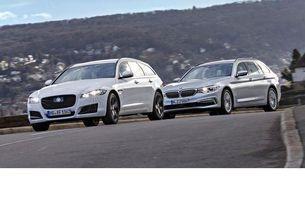 BMW 530D Touring срещу Jaguar XF 25D Sportbrake AWD