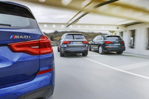 Audi SQ5, BMW X3 M40i, Mercedes-AMG GLC 43: Без предразсъдъци