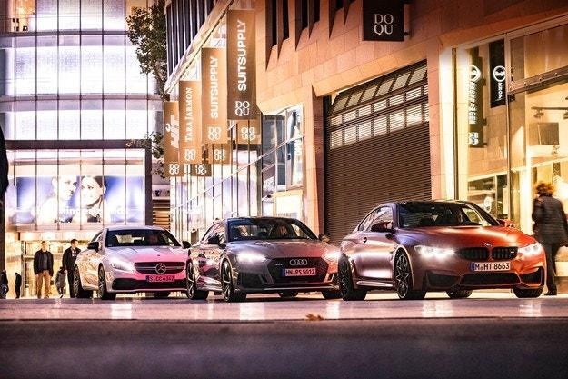 Audi RS5, BMW M4, Mercedes-AMG C 63