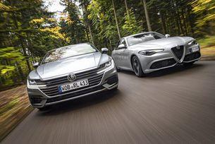 VW Arteon 2.0 TSI и Alfa Romeo Giulia Veloce: Спортен нрав?