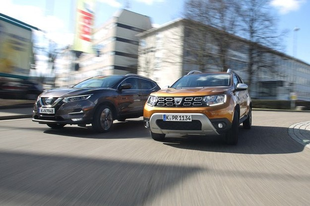 Dacia Duster DCI 110 4X4 срещу Nissan Qashqai 1.5 DCI: Тест