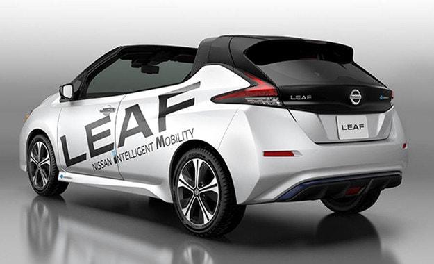 Новият Nissan Leaf остана без покрив