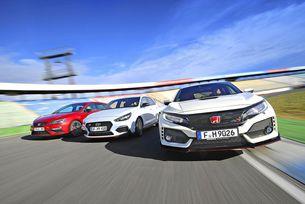 Honda Civic Type R, Hyundai i30 N, Seat Leon Cupra