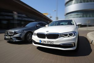 BMW 530 e срещу Mercedes E 350 e