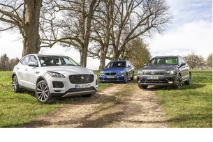 BMW X1, Jaguar E-Pace и VW Tiguan