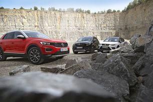 Opel Crossland X и Seat Arona срещу VW T-Roc: Градски каубои