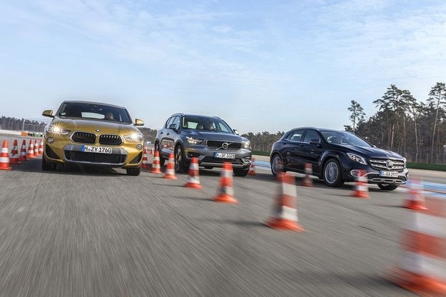 BMW X2, Mercedes GLA, Volvo XC40