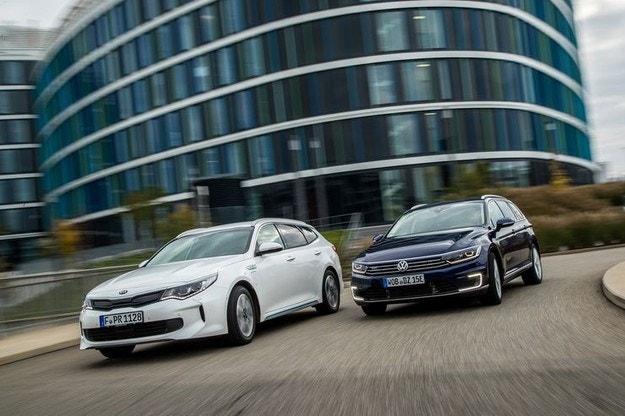 Kia Optima SW Plug-in Hybrid vs. VW Passat Variant GTE