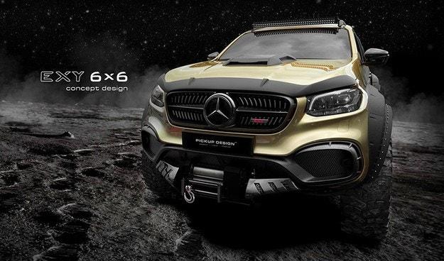 Mercedes-Benz X-класа ще има версия с шест колела