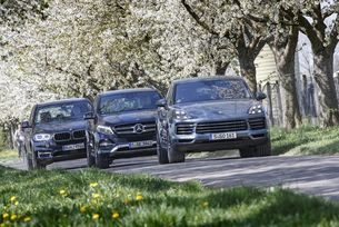 BMW X5, Mercedes GLE, Porsche Cayenne
