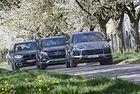 BMW X5, Mercedes GLE, Porsche Cayenne: Голям спорт