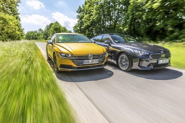 Kia Stinger срещу VW Arteon