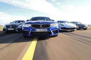 BMW M5, AMG E63, Cadillac CTS-V, Porsche Panamera: Клуб 600