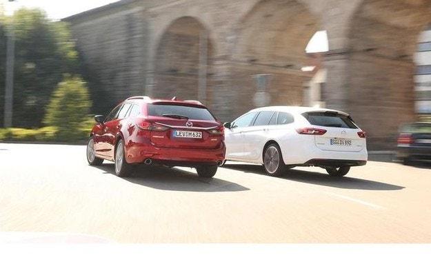 Mazda 6 Kombi и Opel Insignia ST: За напреднали