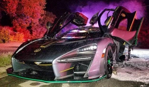 McLaren Senna за 1,5 млн. евро изгоря в Лос Анжелис