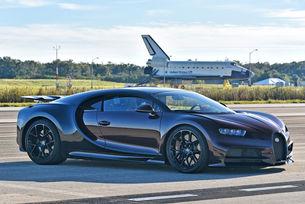 Тестват Bugatti Chiron на пистата в центъра Кенеди