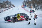 Audi e-tron атакува алпийската писта Streif