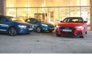 Audi A1 Sportback, Ford Fiesta и VW Polo