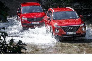 Hyundai Santa Fe срещу Skoda Kodiaq