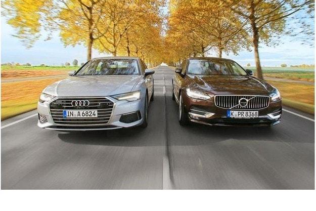 Audi A6 TDI и Volvo S90 D5: Дуел на мощни бизнес седани